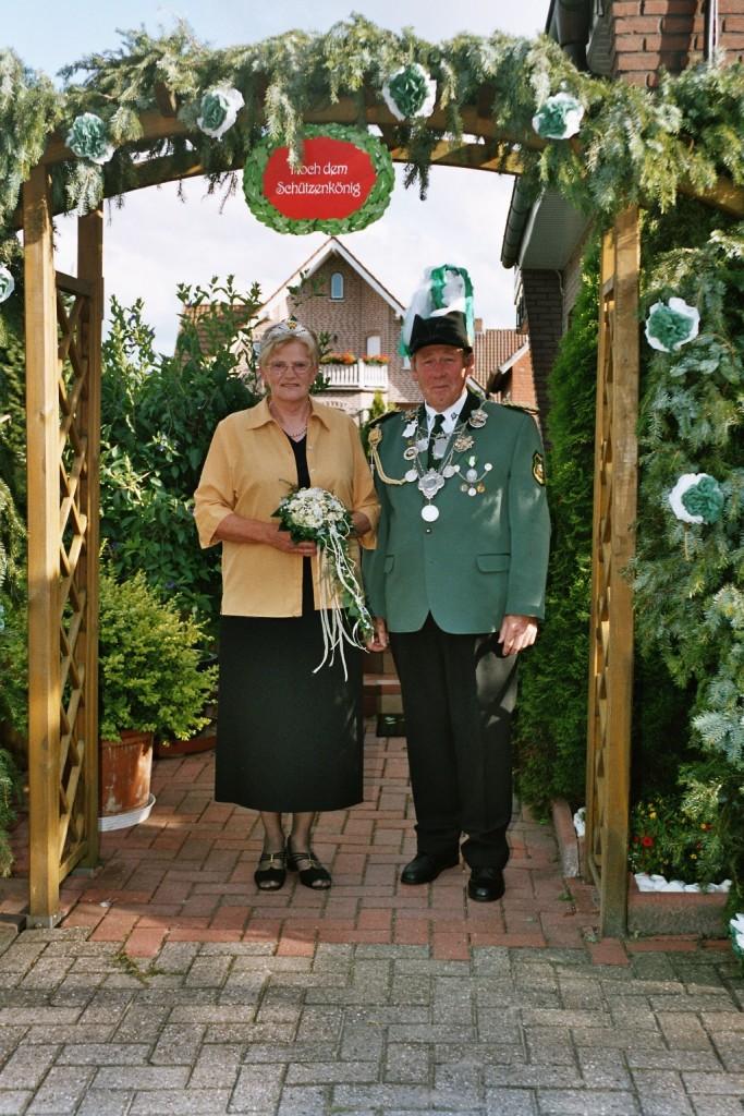 König Peter mit Königin Marlies Schindelhauer