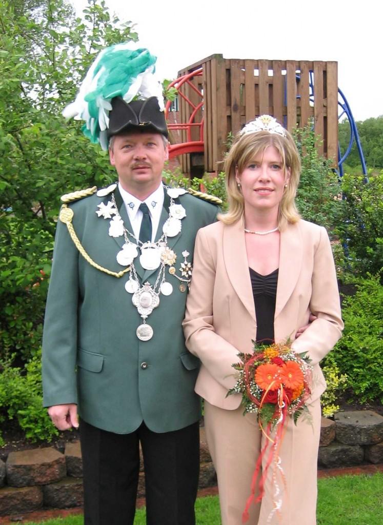 König Günther mit Königin Marion Peters