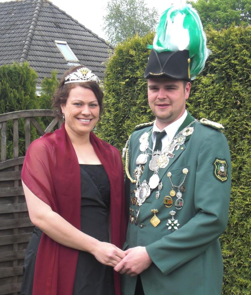 König Daniel mit Königin Verena Bentlage