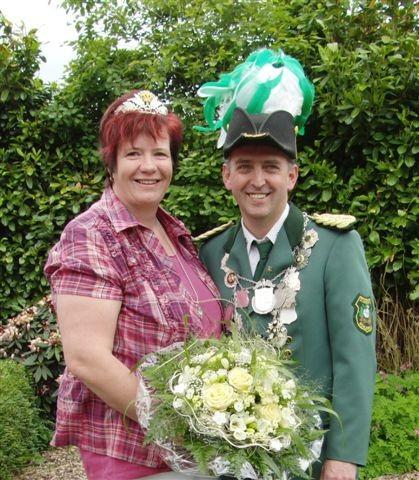 König Martin mit Königin Sonja Schreiber
