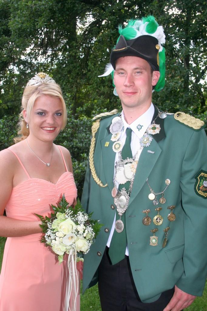 König Christian Koiter mit Königin Carolin Möllerhaus