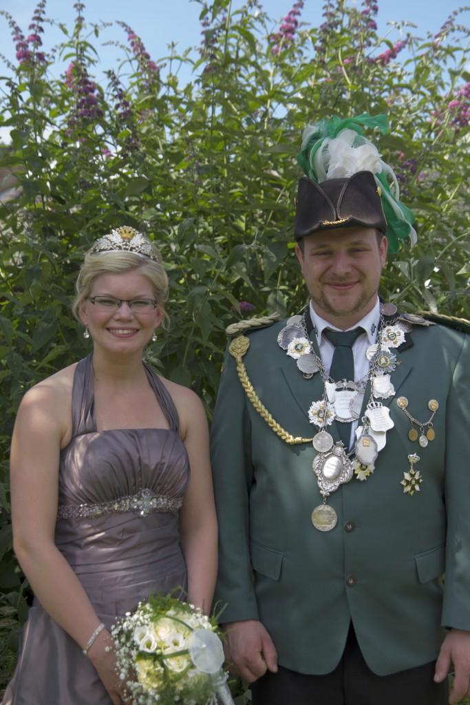 König Dirk Fokken mit Königin Birte Vohrmann